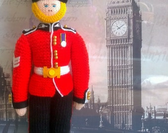 Knitted Guardsmen (each doll costs 25 GBP)