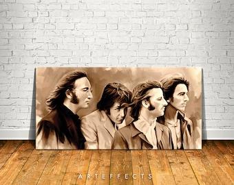 The Beatles Canvas High Quality Giclee Print Wall Decor Art Poster Artwork