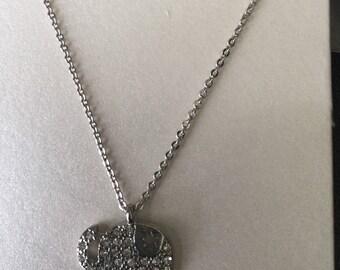 Crystal encrusted elephant pendant necklace!!