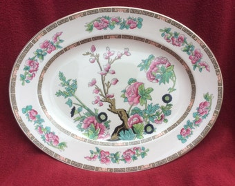 """John Maddock and Sons Indian Tree Oval Server Platter 11"""" x 14"""""""