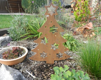 rusty metal christmas ornament rustic christmas tree decor rusty metal art christmas tree