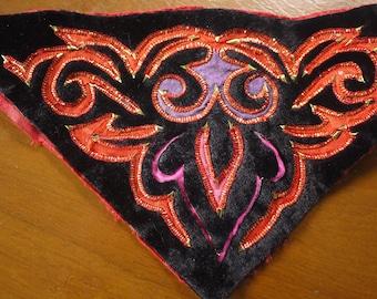 Hmong stitched textile - tribal ethnic textile patch