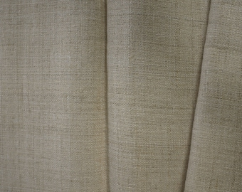 Length of natural undyed hemp fabric - handwoven textile - Grade A hemp