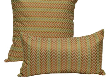 Decorative Pillow Cover Geometric Orange