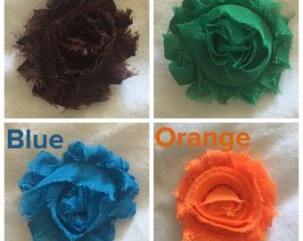 Frayed Flower Hair clips