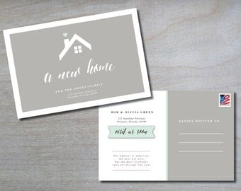 New Home Postcard • Change of Address • New Address • We've Moved • Moving Announcement • Postcard • 4x6 • Printable • Digital