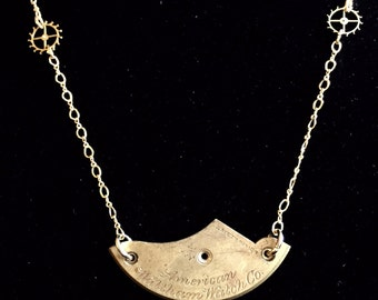 The American Waltham Watch Co. Necklace in Yellow Gold Tone