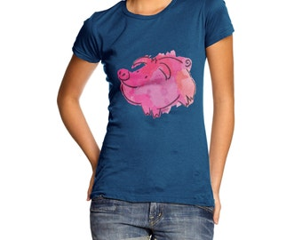 Women's Ink Splat Pig T-Shirt