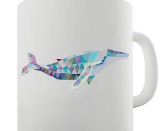 Geometric Whale Ceramic Novelty Gift Mug
