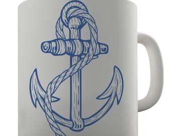 Sailor Navy Anchor Ceramic Tea Mug