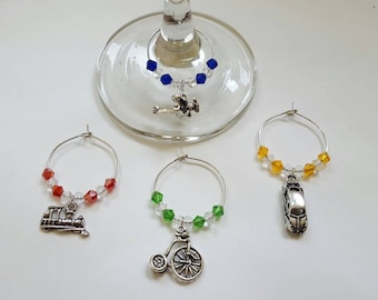Travel Wine Charms (Set of 4)