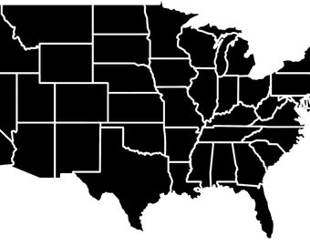 Free US Map Silhouette Vector Usa Political Map Free Vectors UI - Usa map black