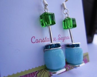 Duo Colour Earrings