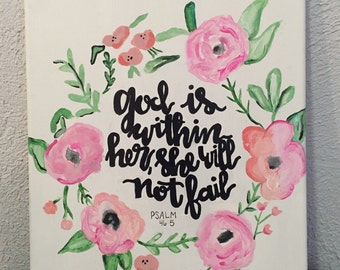 God is within her she will not fail canvas