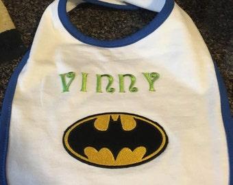 Batman Bib with Name