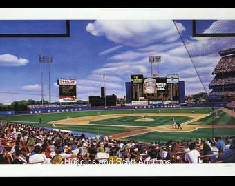 "New York Mets ""Shea Stadium Matinee"" limited edition lithograph William Feldman Print Art Rare"