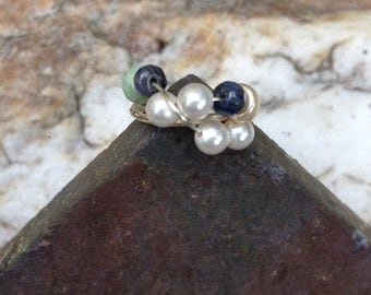 Pearls and Gemstones on Sterling