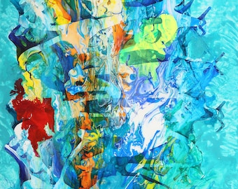 COMMISSION, Abstract Fine Art, Original Painting on Canvas