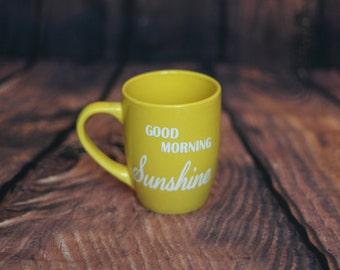 Good Morning Sunsine Yellow Coffee Mug