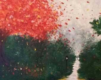 AUTUMN DAYS. Acrylic Painting