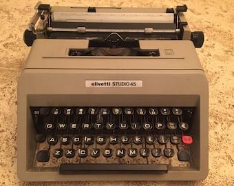 Vintage Olivetti Studio 45 typewriter
