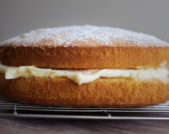 Gluten Free, Wheat Free and Dairy Free Victoria Sponge