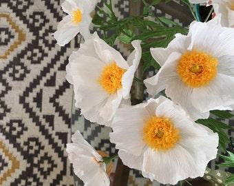 Crepe Paper California Tree Poppy single stem