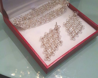 Filigree Handmade Earring and bracelet  set from Mompox Colombia !!! 30% DISCOUNT ALL ITEMS!!