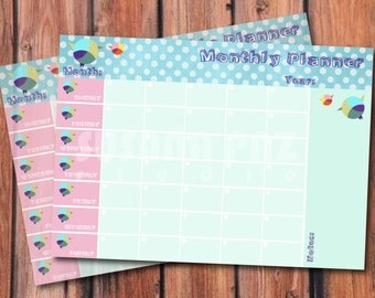 Monthly Planner | Printable Monthy Planner |Printable Planner| Desk Planner  |Instant Download | DIY |