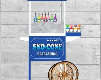 Sno Cone Cart Graphic Download 300dpi
