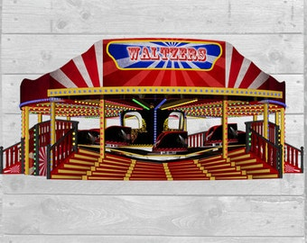 The Waltzer Ride Tilt a Whirl Graphic Download 300dpi