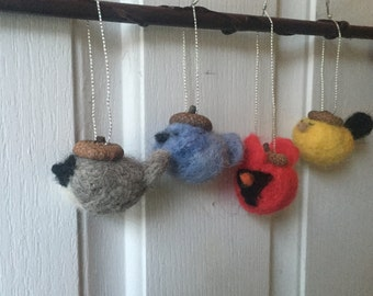 Felted Bird Ornaments