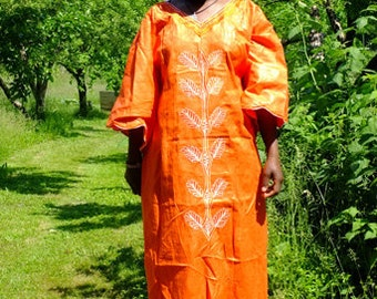 african embroidery dress/cotton