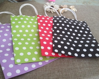 Polka dot paper bag in different colors