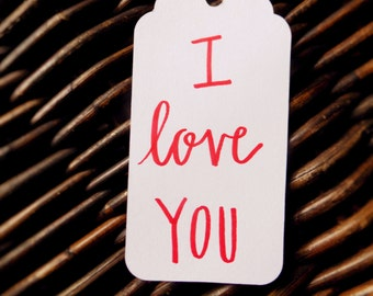I Love You - 10 Gift Tags