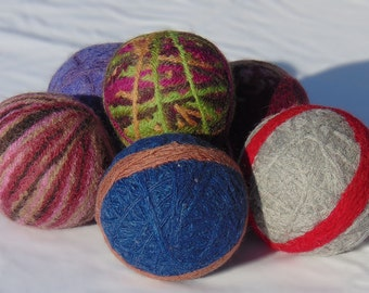 Recycled Wool Dryer Balls Random Color
