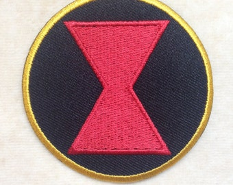 Black Widow Spider Logo Iron On Patch