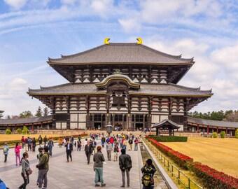 Todaiji Temple Photo, Large Canvas Art, Travel Japan Photo, Japan Panorama, Japan Cool Photo, Glossy, Living Room Decor