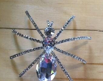 Swarovski Crystal Tarantula Brooch