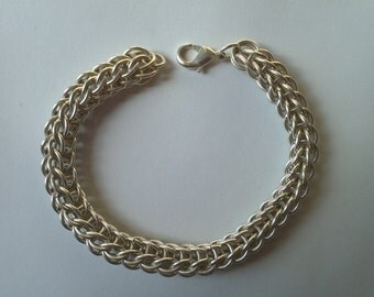 Unique handmade persian 6-in-2 chainmail bracelet