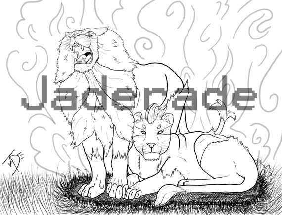 Pokemon inspired coloring page pyroar for Pyroar coloring pages