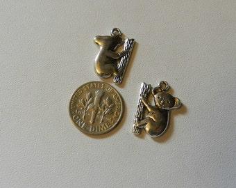 Silver Koala Charm 2 piece V5200