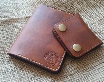 EDC 100% handmade leather slim wallet