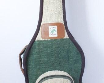 Ukulele Bag Case *Tenor* Hemp Pure Organic Leather Natural Stylish Fashion