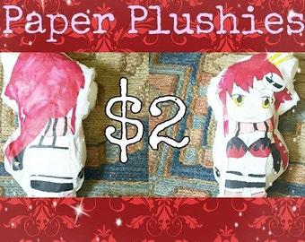 Custom Paper Plush