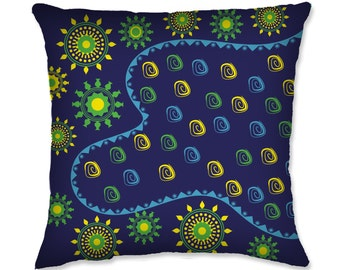 African Patterned Throw Pillow