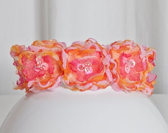Dog Collar Angel's Couture Flower Power Candy