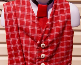 Little Boy Vest and Matching Ties
