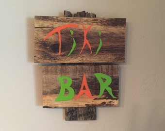 Rustic Tiki Bar Sign
