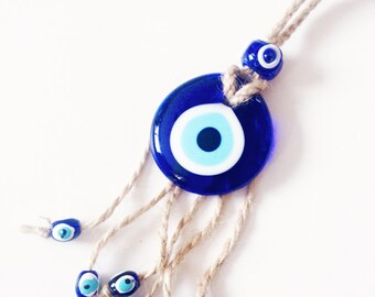 Evil eye wall hanging, evil eye beads, turkish evil eye, evil eye wall decor, evil eye charm, evil eye home decor, greek evil eye beads